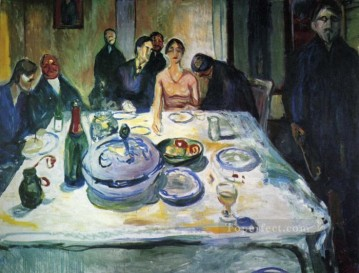 left Canvas - the wedding of the bohemian munch seated on the far left 1925 Edvard Munch