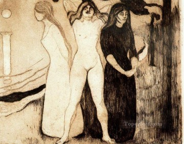 1895 Works - the women 1895 Edvard Munch