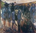 workers on their way home 1915 Edvard Munch