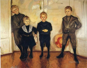 the four sons of dr linde 1903 Edvard Munch Oil Paintings