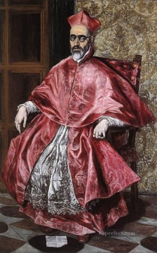 spanish spain Painting - Portrait of a Cardinal Mannerism Spanish Renaissance El Greco