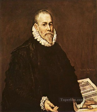 spanish spain Painting - Portrait of a Doctor 1577 Mannerism Spanish Renaissance El Greco