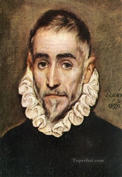 spanish spain Painting - Portrait of an Elder Nobleman 1584 Mannerism Spanish Renaissance El Greco