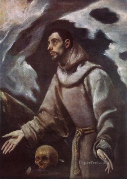 spanish spain Painting - The Ecstasy of St Francis 1580 Mannerism Spanish Renaissance El Greco