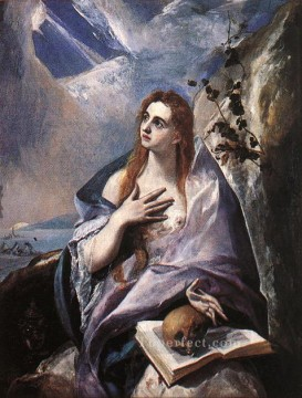 spanish spain Painting - The Magdalene 1576 Mannerism Spanish Renaissance El Greco