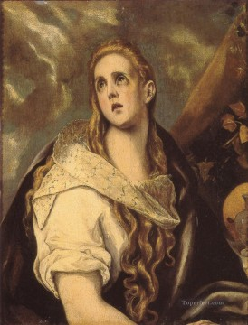 spanish spain Painting - The Penitent Magdalen Mannerism Spanish Renaissance El Greco