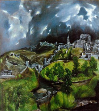 spanish spain Painting - View of Toledo Mannerism Spanish Renaissance El Greco