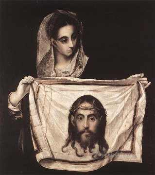 renaissance Painting - St Veronica with the Sudary 1579 Mannerism Spanish Renaissance El Greco