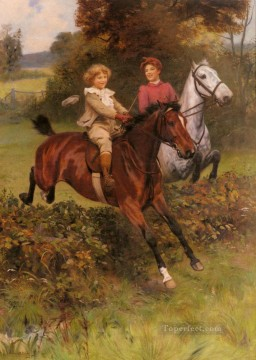 Arthur John Elsley Painting - His First Fence idyllic children Arthur John Elsley