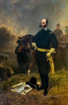 Emanuel Oil Painting - General Ambrose Burnside at Antietam Emanuel Leutze