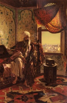 Smoking The Hookah Rudolf Ernst Oil Paintings