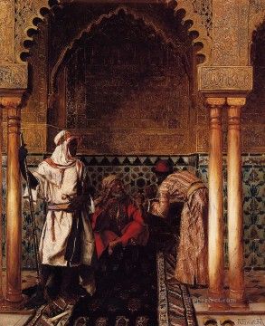 An Arab Sage Rudolf Ernst Oil Paintings