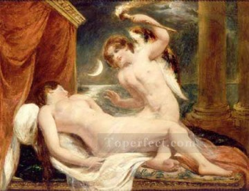 Cupid Works - Cupid and Psyche William Etty