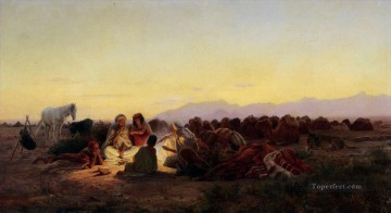Artworks by 350 Famous Artists Painting - Arab Camp Eugene Girardet Orientalist