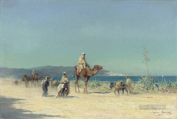 Artworks by 350 Famous Artists Painting - Arabs on a costal road Eugene Girardet Orientalist