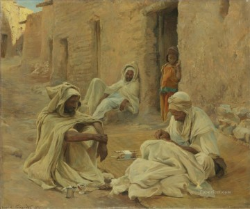 Artworks by 350 Famous Artists Painting - MENDING Eugene Girardet Orientalist