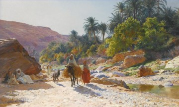 Artworks by 350 Famous Artists Painting - The Wadi at Bou Saada Eugene Girardet Orientalist
