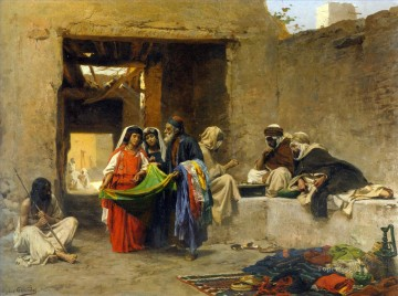 Artworks by 350 Famous Artists Painting - At the souk Eugene Girardet Orientalist