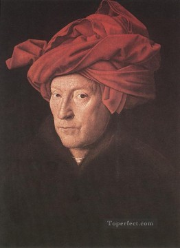 Man in a Turban Renaissance Jan van Eyck Oil Paintings