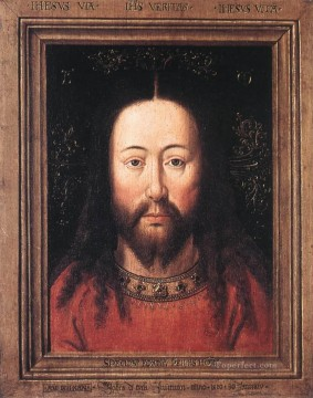 renaissance Painting - Portrait of Christ Renaissance Jan van Eyck