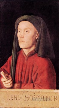 renaissance Painting - Portrait of a Young Man Tymotheos Renaissance Jan van Eyck