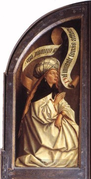 Altarpiece Painting - The Ghent Altarpiece Erythraean Sibyl Renaissance Jan van Eyck
