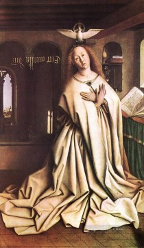 Altarpiece Painting - The Ghent Altarpiece Mary of the Annunciation Renaissance Jan van Eyck