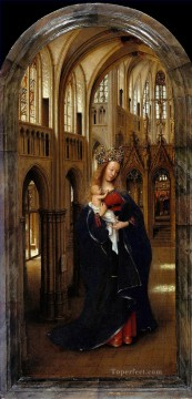 madonna Painting - Madonna in the Church Renaissance Jan van Eyck