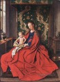 Madonna with the Child Reading Renaissance Jan van Eyck