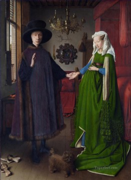 Portrait of Giovanni Arnolfini and his Wife Renaissance Jan van Eyck Oil Paintings