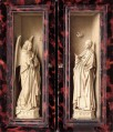 Small Triptych outer panels Renaissance Jan van Eyck