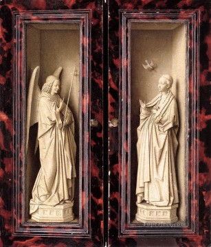 panels Works - Small Triptych outer panels Renaissance Jan van Eyck