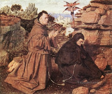 Stigmatization of St Francis Renaissance Jan van Eyck Oil Paintings