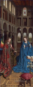 The Annunciation 1435 Renaissance Jan van Eyck Oil Paintings