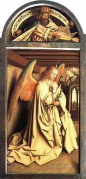 Altarpiece Painting - The Ghent Altarpiece Prophet Zacharias Angel of the Annunciation Renaissance Jan van Eyck