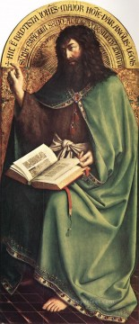 Altarpiece Painting - The Ghent Altarpiece St John the Baptist Renaissance Jan van Eyck