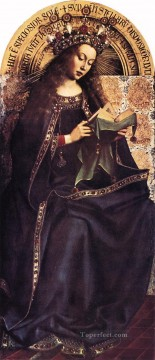 renaissance Painting - The Ghent Altarpiece Virgin Mary Renaissance Jan van Eyck