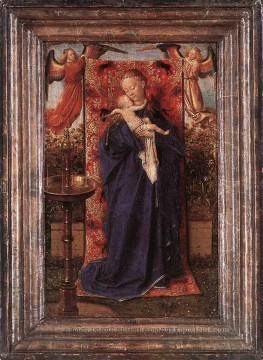 madonna Painting - Madonna and Child at the Fountain Renaissance Jan van Eyck