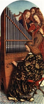 Angels Works - The Ghent Altarpiece Angels Playing Music Renaissance Jan van Eyck