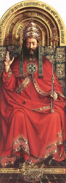 Altarpiece Painting - The Ghent Altarpiece God Almighty Renaissance Jan van Eyck