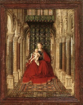 renaissance Painting - Small Triptych central panel Renaissance Jan van Eyck
