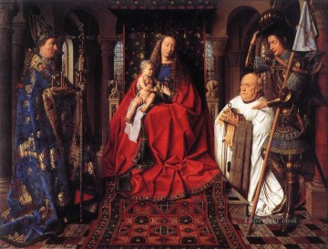 renaissance Painting - The Madonna with Canon van der Paele Renaissance Jan van Eyck