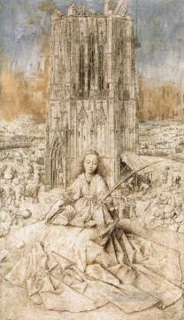 St Barbara Renaissance Jan van Eyck Oil Paintings