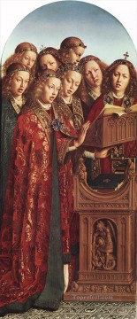 Altarpiece Painting - The Ghent Altarpiece Singing Angels Renaissance Jan van Eyck