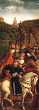 renaissance Painting - The Ghent Altarpiece The Just Judges Renaissance Jan van Eyck