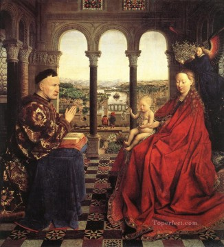 renaissance Painting - The Virgin of Chancellor Rolin Renaissance Jan van Eyck