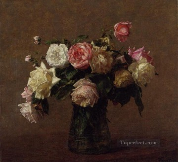 rose roses Painting - Bouquet of Roses Henri Fantin Latour
