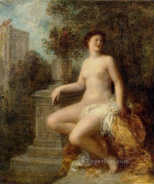 bath girl oil painting Painting - Bathsheba Henri Fantin Latour