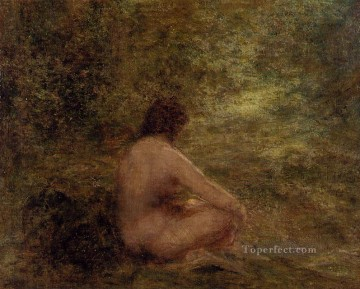 bath girl oil painting Painting - The Bather Henri Fantin Latour