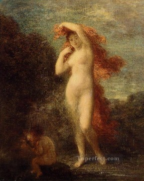 venus Painting - Venus and Cupid Henri Fantin Latour